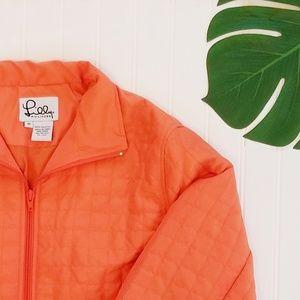 Lilly Pulitzer | Orange Quilted Jacket | M